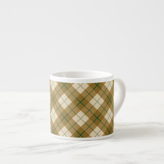 Bias Plaid in Gold with Green Stripe Espresso Cup