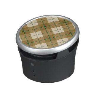 Bias Plaid in Gold with Green Stripe Speaker