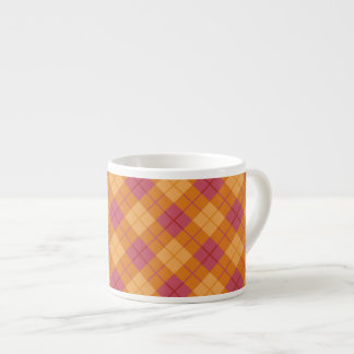 Bias Plaid in Orange and Pink Espresso Cup