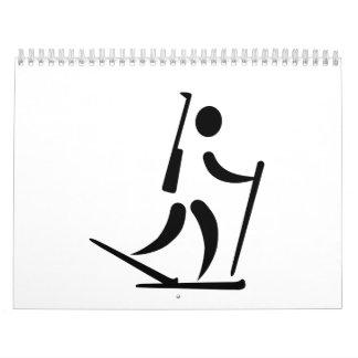 Biathlon icon calendars