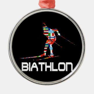 Biathlon Metal Ornament