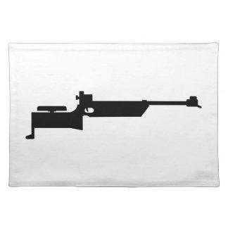 Biathlon rifle placemat