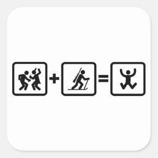 Biathlon Square Sticker