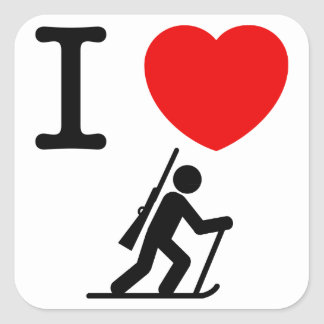 Biathlon Square Sticker