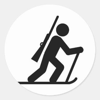 Biathlon Round Stickers