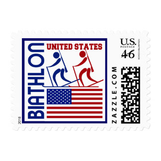 Biathlon United States Postage Stamp