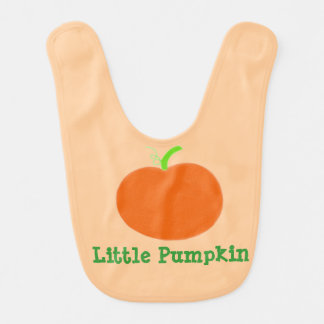Bib Little Pumpkin Orange Green