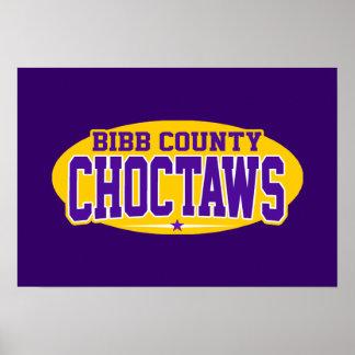 Bibb County High School; Choctaws Poster