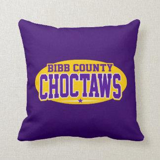 Bibb County High School; Choctaws Throw Pillow