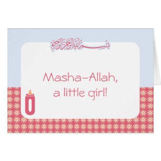 Biberón de los musulmanes de la enhorabuena de tarjeta de felicitación