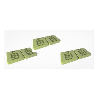 Bibi as Bismuth Bi and Bismuth Bi Personalized Rack Card