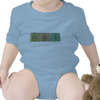 Bibi como yodo del boro del bismuto traje de bebé