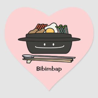 Bibimbap Korean rice bowl namul vegetables egg Heart Sticker