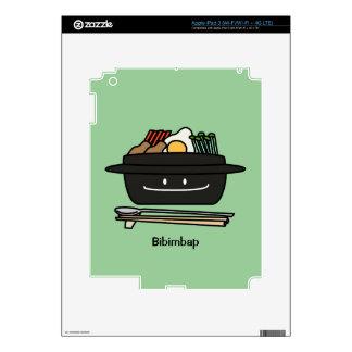 Bibimbap Korean rice bowl namul vegetables egg iPad 3 Skin