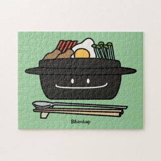 Bibimbap Korean rice bowl namul vegetables egg Jigsaw Puzzle