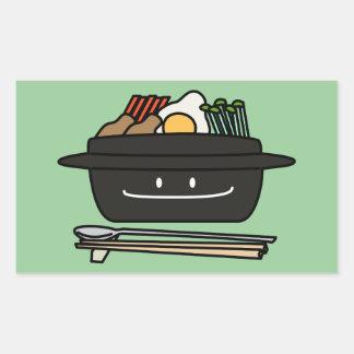 Bibimbap Korean rice bowl namul vegetables egg Rectangular Sticker