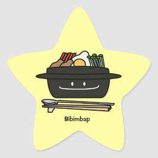 Bibimbap Korean rice bowl namul vegetables egg Star Sticker