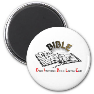 bible acronym 2 inch round magnet