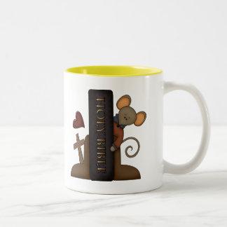 Bible and Mouse Two-Tone Coffee Mug