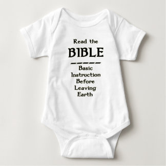 Bible - Basic Instruction Before Leaving Earth Baby Bodysuit