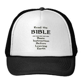 Bible - Basic Instruction Before Leaving Earth Mesh Hats