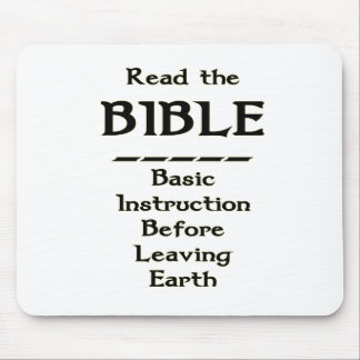 Bible - Basic Instruction Before Leaving Earth Mouse Pad