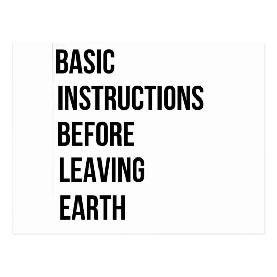 Bible Basic Instructions Before Leaving Earth Postcard Zazzle