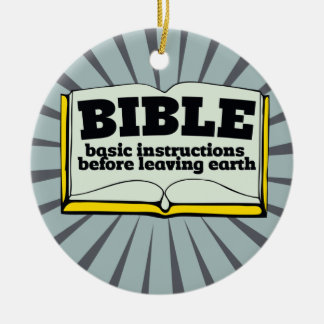 Bible - basic instructions ceramic ornament