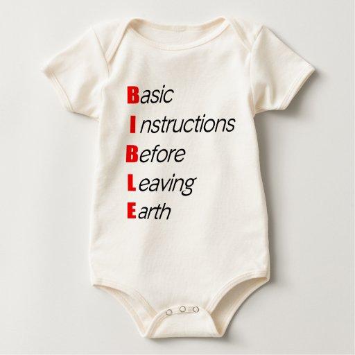 Bible, Basic instructions for leaving earth gift Baby Bodysuit