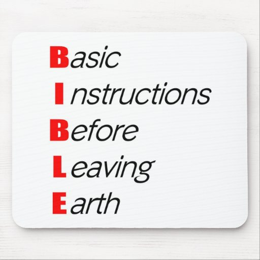 Bible, Basic instructions for leaving earth gift Mouse Pad