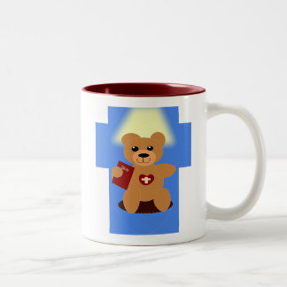 Bible Bear God Loves Me Anyway Mug