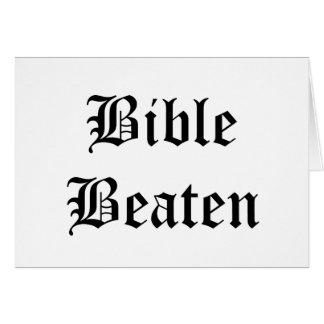 Bible Beaten Card