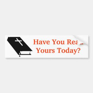 Bible Car Bumper Sticker