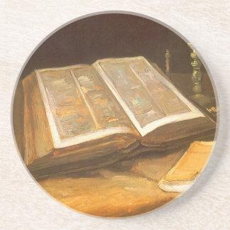 Bible by Vincent van Gogh, Vintage Impressionism Coaster