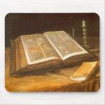 Bible by Vincent van Gogh, Vintage Impressionism Mousepad