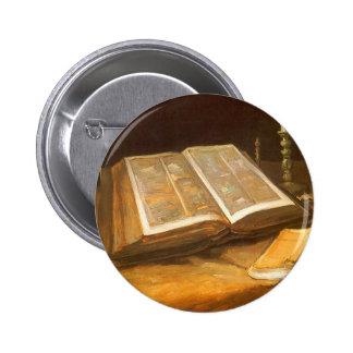 Bible by Vincent van Gogh, Vintage Impressionism Pinback Button