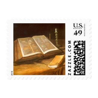 Bible by Vincent van Gogh, Vintage Impressionism Postage