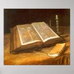 Bible by Vincent van Gogh, Vintage Impressionism Posters