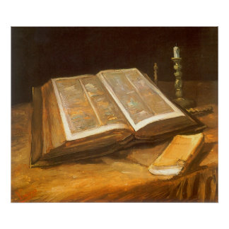 Bible by Vincent van Gogh, Vintage Impressionism Poster