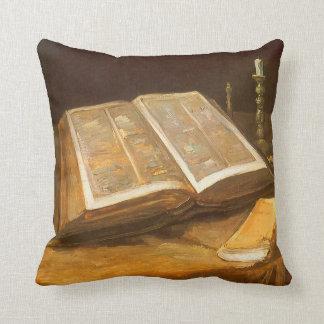 Bible by Vincent van Gogh, Vintage Impressionism Throw Pillow