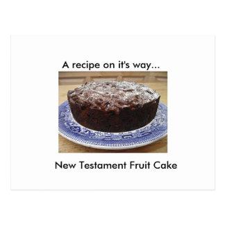 Bible Cake Recipe Postcard