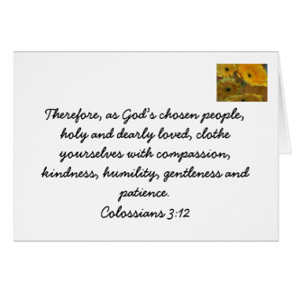 Bible card for christian brothers and sisters