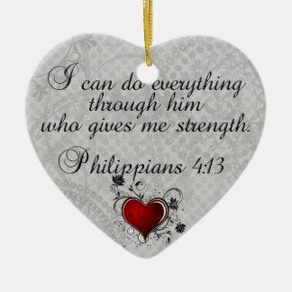 Bible Christian Verse Philippians 4:13 Christmas Ornament