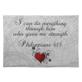 Bible Christian Verse Philippians 4:13 Placemats