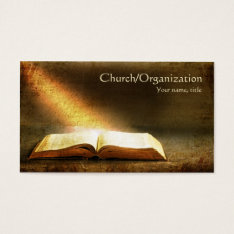 Bible-christianity-religious Business Card at Zazzle