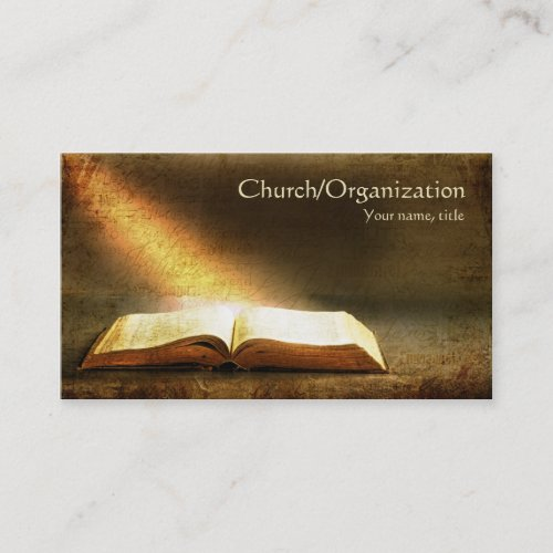 Bible_Christianity_Religious Business Card