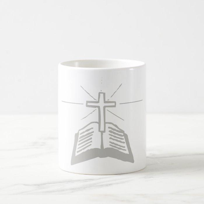 Bible+Croix Gris Coffee Mug