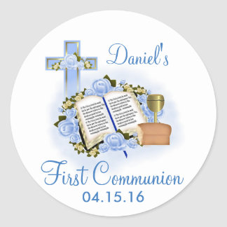 Bible Cross First Communion Stickers Envelope Seal