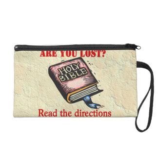 BIBLE GIVES ME DIRECTION WRISTLET PURSES