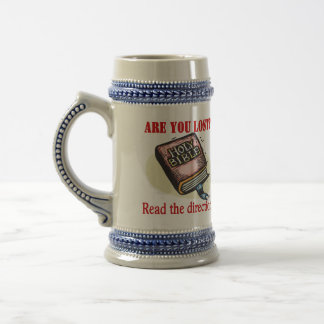 BIBLE GIVES ME DIRECTION BEER STEIN